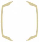 Ramka ozdobna do gniazd podwójnych  Ospel Ton - Beżowy - RO-3C/01